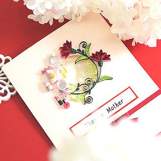 クイリングOneday LESSONのご案内【母の日カード】の画像