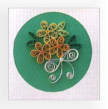 ① 花束のカード