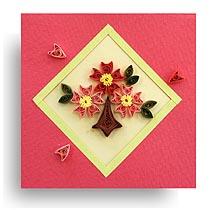 ④ 満開の桜のカード